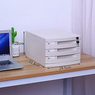 Armoires de rangement plat plat pour meuble de bureau 2/3/6 tiroirs, avec serrure haute capacité pouvant stocker des fichi...