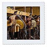 3dRose qs_97338_1 Cowboy-Sattel, Stiefel, Versteck-Ranch,