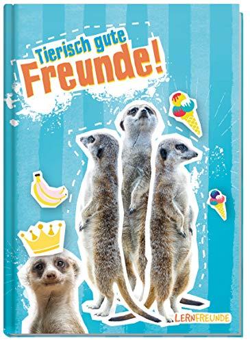 Freundebuch Schule für Jungs und Mädchen [Erdmännchen] Hardcover Poesiealbum, liebevoll und witzig gestaltet - von Lernfreunde by Häfft | nachhaltig & klimaneutral