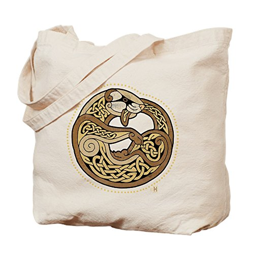 CafePress Celtic Ferret Natural Canvas Tote Bag, Reusable Shopping Bag
