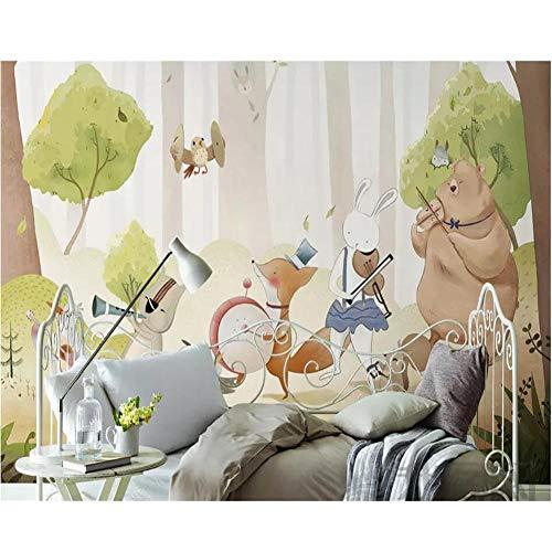 LTTGG Benutzerdefinierte Tapete große bildhafte 3d handgemalte Wald Cartoon Tier Wanddekoration...