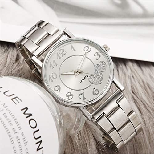Uhr Armbanduhren Männer Damenuhren Hansee Mode Damen Herz Silikon Mesh Gürtel Runde Armbanduhr Frauen Kreative Geschenk Für Mädchen Uhren Wrist Watches(B)