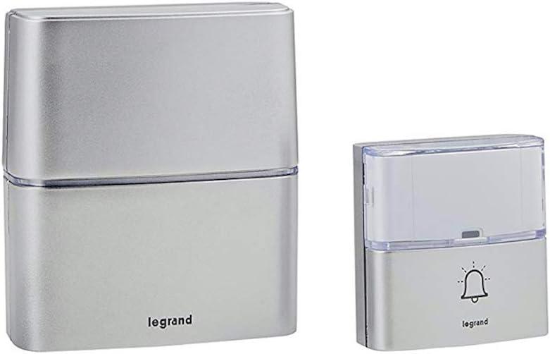 Legrand 94271 Max Weekly update 58% OFF MP3 Wireless Aluminium 30 Doorbell Melodies