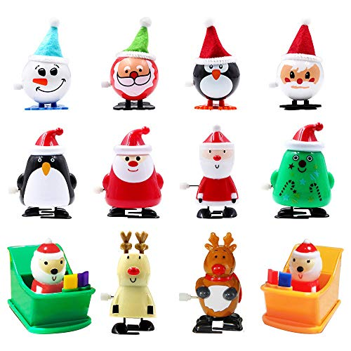 heytech Wind-up Toys 12 Pieces Assorted Toys for Kids Party Favors Gift for Christmas Birthday Thanksgiving with A Gift Box