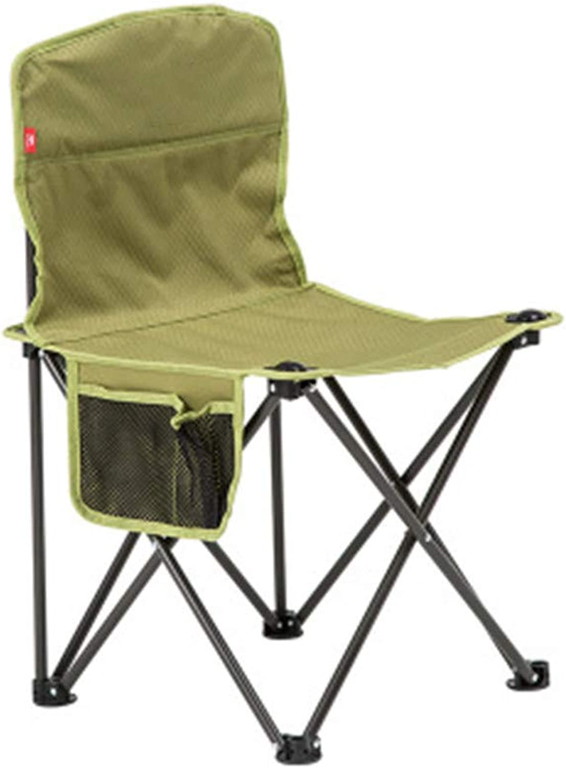 Folding Camp Chair Camping Lightweight Perfect Portable Outdoor for Fishing Garden Hiking Backpacking Travel Outside Seat Lumbar Back Support Light Weight,Green