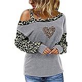 OtoñO E Invierno, Estampado De Leopardo, Costura A La Moda, Camiseta Estampada,...