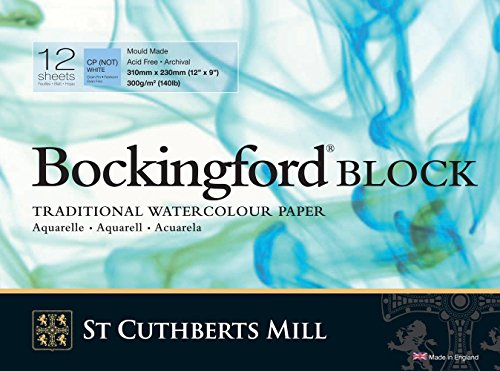 Bockingford Watercolor Block 9 X 12 White 140 Pound