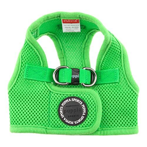 Puppia PAHA-AH305-GR-M Soft Vest Harness B - Pettorina Morbida per Cani, Verde, M