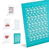 Unicef Postal Navidad - Pack de 10 tarjetas red & teal, PK10XR1703