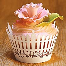 white picket fence cupcake wrappers