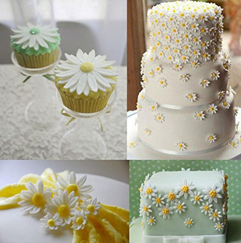 YOYOSTORE 4Pc Piece Homemade Cake Embossing Mold Chrysanthemum Decorating Tools Set