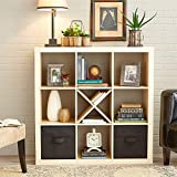 PACK OF 5 - Better Homes and Gardens Cube Storage Shelf, X, Multiple Colors, Solid Black