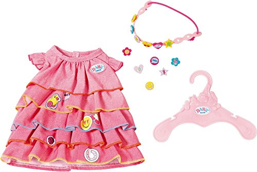 Zapf Creation 824481 Baby Born zomerjurk set met pinnen, bont