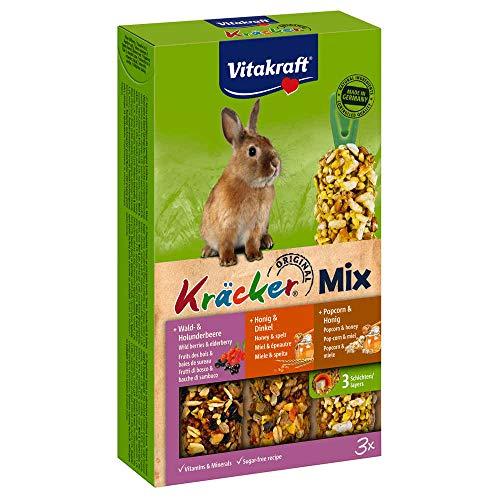 Vitakraft Kräcker Trio-Mix Kaninchen - Waldbeeren, Honig & Popcorn