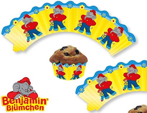 12 Cupcake Banderolen * BENJAMIN BLÜMCHEN * für Kinderparty und Kindergeburtstag von DH-Konzept // Töröööö // Elefant Kinder Cup Cake Muffins Party Set