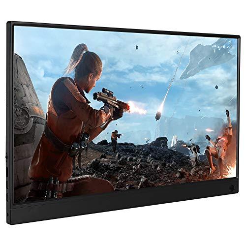 Pantalla Monitor 1920x1080P 15.6in HD Type-C Portátil para Conexión de un Cable Monitor Conexión Ultradelgada de One-Cable para HDMI/NS/Xbox / PS4 para Laptops con Cable Type-C