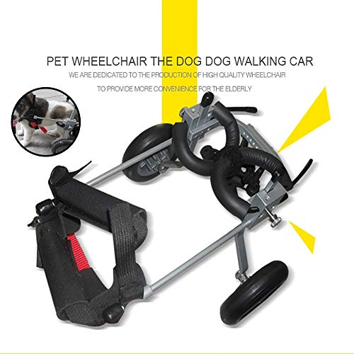 Hardworking person-ZHL Dog wheelchair, Dog Mobility Harness Rear Support Wheelchair Hind Leg Rehabilitation for Handicapped Dog Suitable for dogs under 3kg
