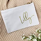 Kosmetikbeutel mit Namen personalisiert weiß gold Geschenk Freundin Mama Schwester