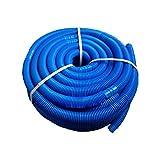 Manguera Piscina 38mm De Diámetro,Tubo Plástico Piscinas, Manguera Solar Piscina Negra, Longitud Total 6 M, Tubo De Succión para Piscina Resistente A Los Rayos UV Y Al Cloro, Azul