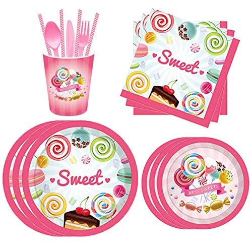 Candyland Party Supplies Decorations Set ncluding 8 x 9