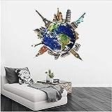 Newberli Décor À La Maison Voyage Autour Du Monde Expressions Murales Vinyle Autocollant Cadeau De La Maison Enfants Chambre Sticker Mural Déco Miroir