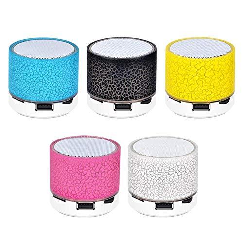 Ganmaov Altavoz inalámbrico Bluetooth, Altavoz de Sonido de luz pequeña y grieta Colorida, Soporte para Mini subwoofer de Audio para teléfono móvil Tarjeta TF/Disco U/AUX