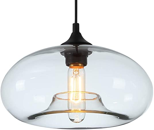 Homelavafans Modern Hand Blown Glass Bell Shaded Pendant Ceiling Lighting With 1 Light Dining Room Lighting Ideas Living Room Bedroom Lighting Plain Amazon Co Uk Kitchen Home