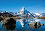 XIAOMA Leinwand Malerei Matterhorn Poster, Berge, Blauer