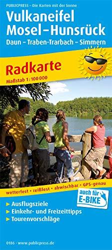 Vulkaneifel - Mosel - Koblenz: Radkarte mit Ausflugszielen, Einkehr- & Freizeittipps, wetterfest, reissfest, abwischbar, GPS-genau. 1:100000 (Radkarte: RK)