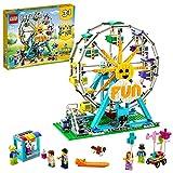 LEGO Creator 3 in 1 Ruota Panoramica, Autoscontro e Giostra, Playset Parco Giochi, Costruzioni per Bambini di 9 Anni, 31119