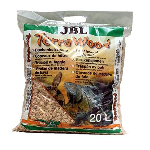 JBL TerraWood 71060 Bodengrund für trockene und halbtrockene Terrarien Buchenholzspäne, 20 l