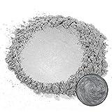 MOSUO Epoxidharz Farbe Metallic Farbpigmente, 50g Silber Grau Schimmer Glitter Seifenfarbe Set Mica...
