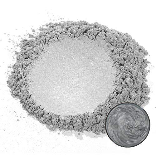 MOSUO Epoxidharz Farbe Metallic Farbpigmente, 50g Silber Grau Schimmer Glitter Seifenfarbe Set Mica Pulver Pigmente für Seifen Slime Epoxidharz Epoxy Harz Gießharz Resin Polyurethanfarbe Kosmetik