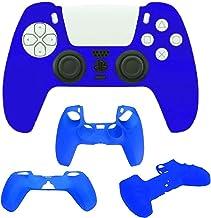 PS5対応DualSenseコントローラ用保護カバー グリップ 滑り止めカバー衝撃と傷からコントローラを保護 プレイステーション5 ワイヤレスコントローラー コントローラーシリコンカバー ブルー
