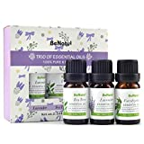 Pure Therapeutic Grade: Grade A, tested for GC/MS purity, 0.34 fl.oz each. Natural Aroma Oils: Compatible with many diffuser. Just a few drops, make you relax and eliminate stress. Wellness Benefits: Lavender helps to sooth nerve and offer a sweet sl...