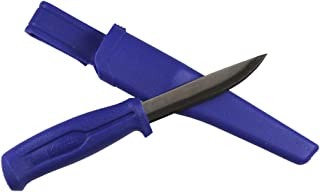 Promar Stainless Steel Fishing Bait Knife w/Sheath Blue