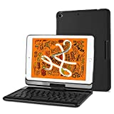 ProCase iPad Mini 5 / Mini 4 Tastiera Custodia(QWERTY), Wireless Custodia Tastiera Bluetooth,7 Colori Retroilluminati, Rotazione a 360 Gradi per 7.9 Apple iPad Mini 5th Gen 2019/iPad Mini 4 2015 -Nero