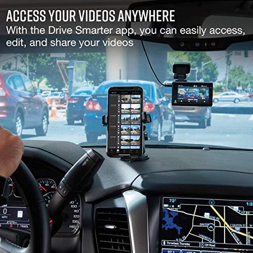 Cobra Smart Dash Cam + Rear Cam (SC 200D) – QHD+ 1600P Resolution, Voice Commands, Built-in WiFi