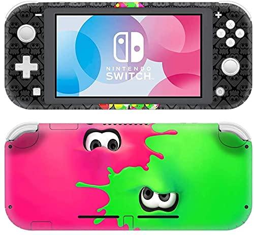 Splatoon 2 Nintendo Switch Lite Skin, Decal, Vinyl, Sticker, Faceplate - Pink and Green Slat Design - Protective Cover LITE