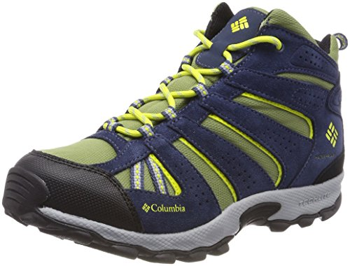 Columbia Garçon, Chaussures de Trail running, Imperméable, YOUTH NORTH PLAINS MID, Bleu (Cool Moss, Zour), Pointure: 39