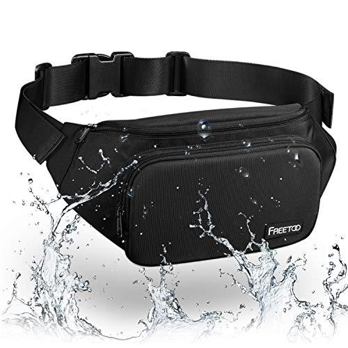 FREETOO Bauchtasche Wasserdicht 4 Pocket Hüfttasche Multifunktionale Gürteltasche Brusttasche Ideal für Freizeit Wandern Reise