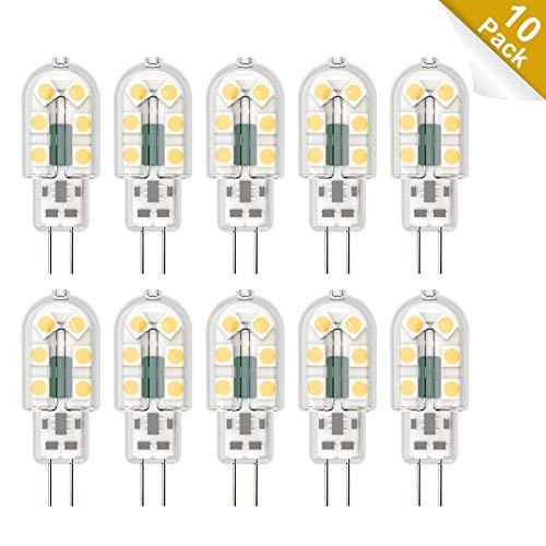 Klighten 10-Pack G4 LED Lampen, 2.5W 300LM G4 LED Birnen ersetzt 20W Halogenlampen, Neutralweiß 4000K Nicht Dimmbar, Kein Flackern, AC/DC 12V