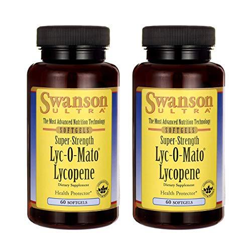 Swanson LYC-O-Mato - Lycopeno de alta resistencia (40 miligramos, 60 geles)