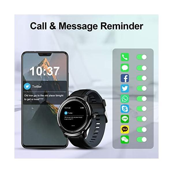 GOKOO Bluetooth Smartwatch Hombre Reloj Inteligente Fitness IP68 Impermeable Actividad Monitor Pulsómetro Compatible con… 4