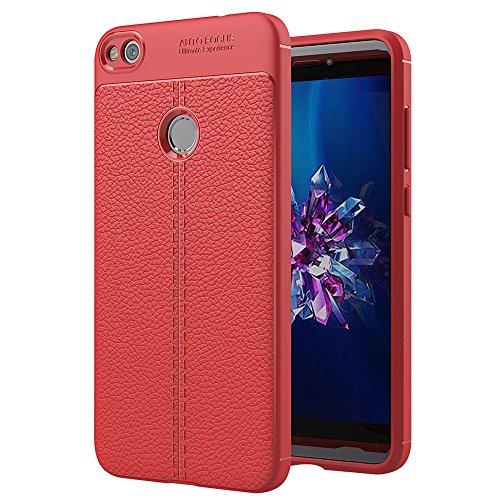 Bueno for Huawei P8 Lite (2017) Litchi Texture TPU Funda protectora (negra) Shiningxie (Color : Red)