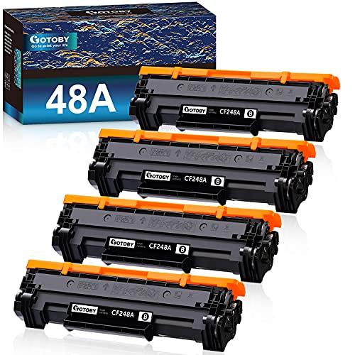 GOTOBY Compatible 48A CF248A Black Toner Cartridges Replacement for HP Laserjet Pro M15w MFP M28w M29w M30w M31w M15a M16a M28a M29a Printer (Black, 4 Pack)