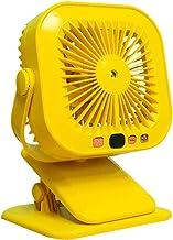 SHURROW Baby wandelwagen Clip Fan Auto Achterbank USB Clip Fan Oplaadbare Desktop Fan Draagbare Ultra-stille USB-ventilato...