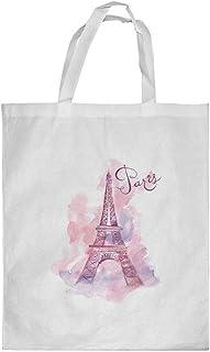 كيس تسوق، بتصميم رومانسي - باريس ، مقاس وسط