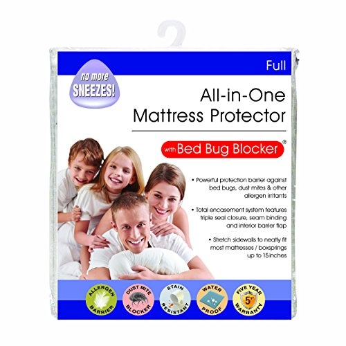 Bed Bug Blocker Hypoallergenic All-In-One Quiet Water...
