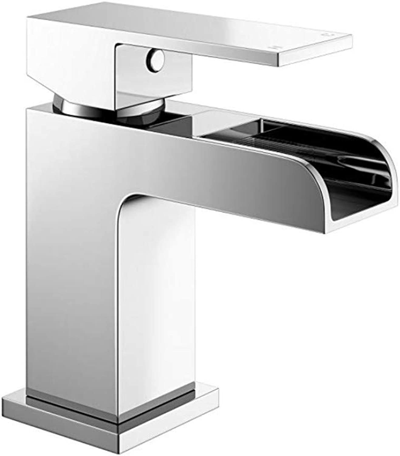Kitchen Sink Taps Bathroom Taps Chrome Waterfall Basin Sink Mixer Tap Modern Luxury Bathroom Lever Faucet